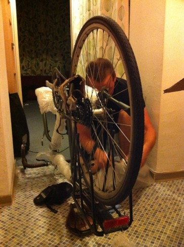 Preparing a bike for travel