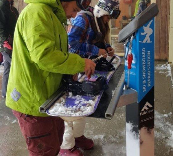 Ski and Snowboard Repair Stations