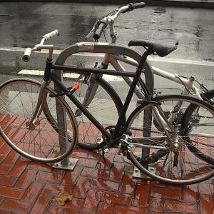 A securely locked bike