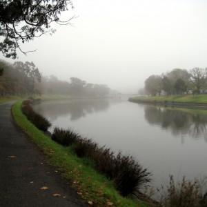 The Yarra River in fog